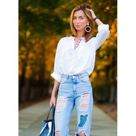 Shortened jeans